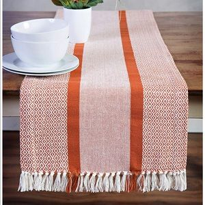 Other - Sticky Toffee Woven Table Runner Burnt Orange